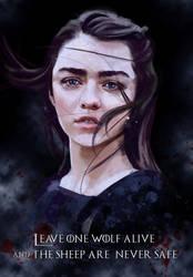 Arya Stark by Silvaticus