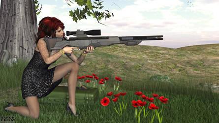 Sniper in black