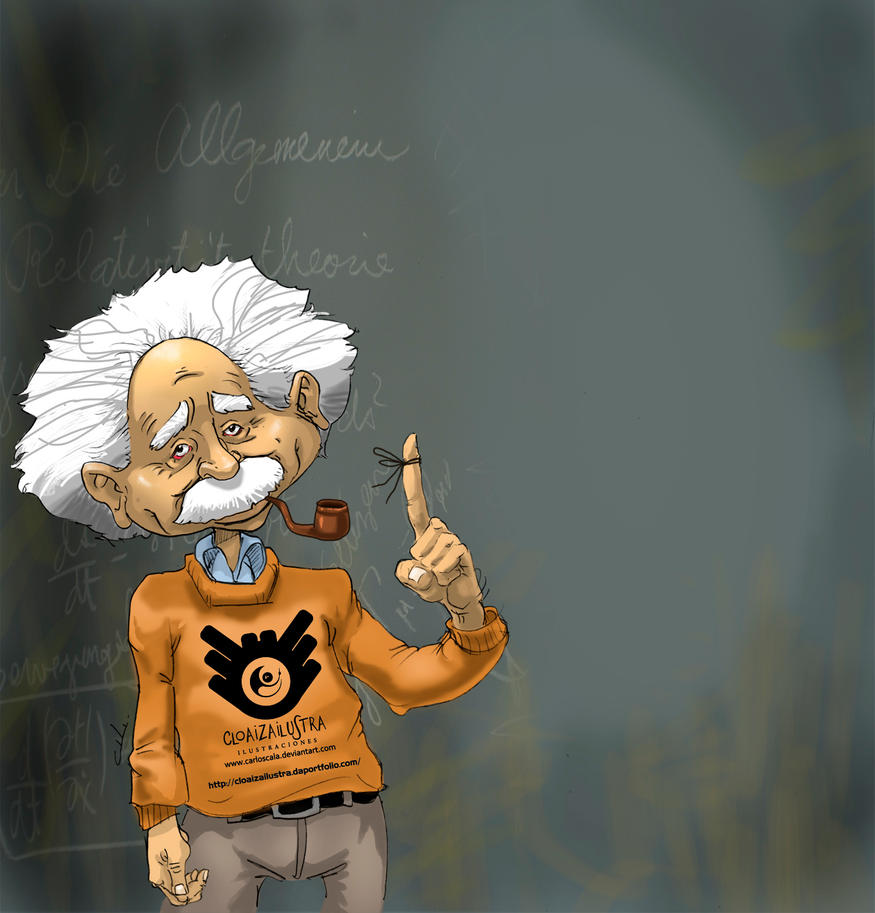 Albert Einstein by CLOAIZAILUSTRA