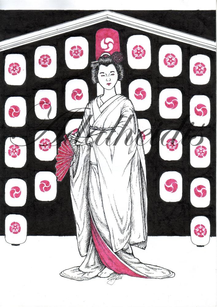 Summer: Gion Matsuri Geisha by adalheidis