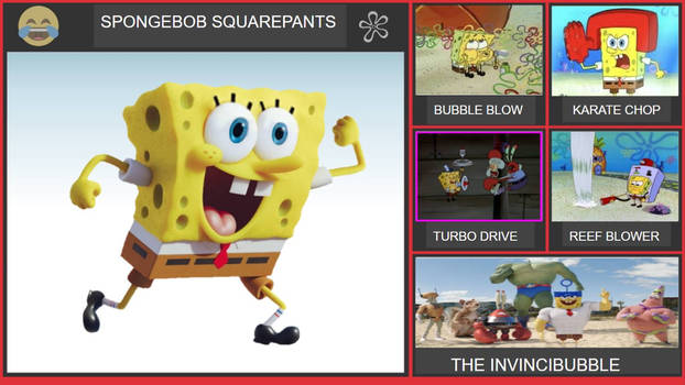 SpongeBob SquarePants Smash Bros Moveset