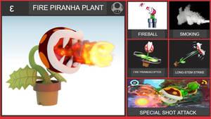 Fire Piranha Plant Smash Bros Moveset
