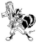 Guardians of the Galaxy: Rocket Raccoon by moonfletcher1983