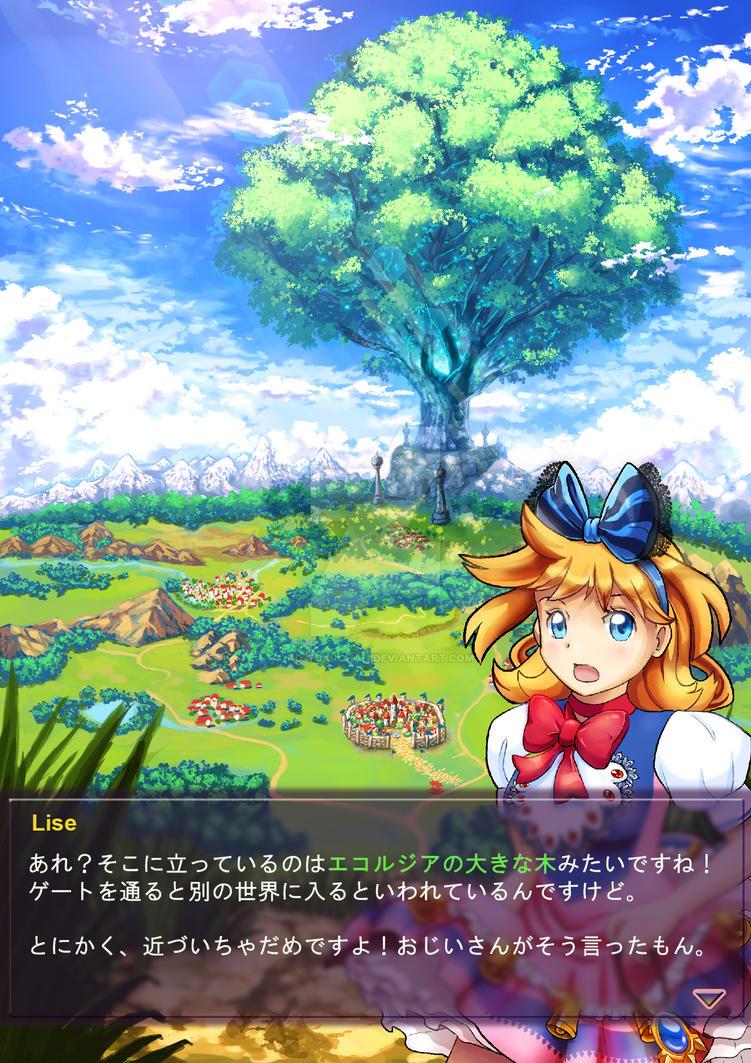 Ekorzia UI and background by ko-yuki-chan