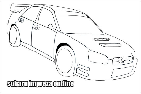 Subaru Impreza Outline 17408668 on subaru wrx sti drawing