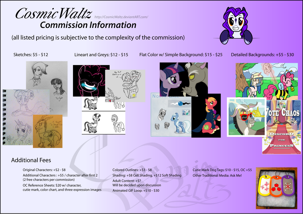 Commission Pricing Guide by CosmicWaltz