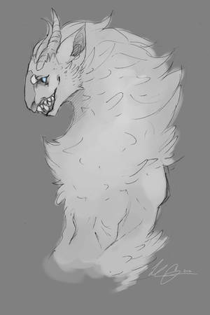 Anthro Reaver sketch by Bethaleil