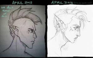 one year of progress, yo holla! by Bethaleil
