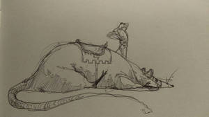 the grandest of knights and his mighty steed by Bethaleil