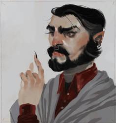 a dapper vampire (commission)