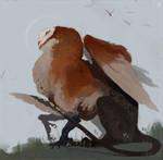 owl griffon (commission)