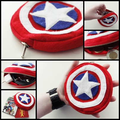 Captain America purse by chibifie
