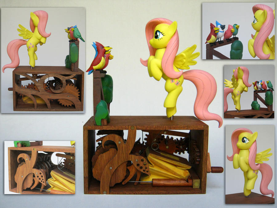 Fluttershy's Bird Choir by renegadecow
