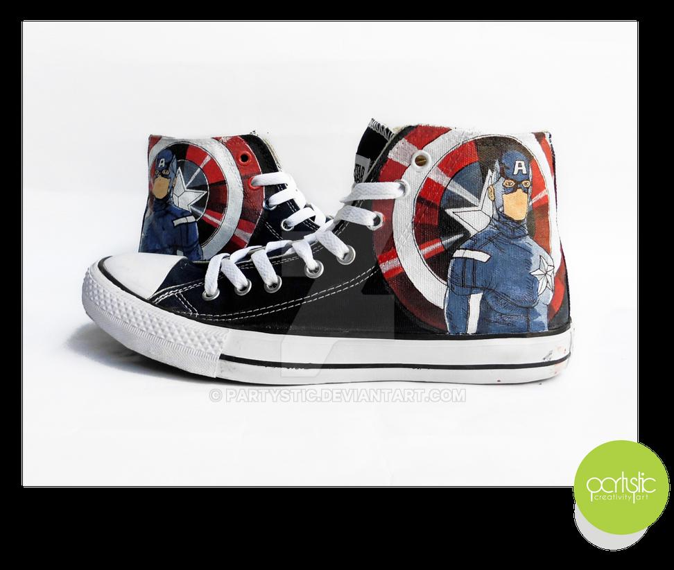 Sepatu Lukis Captain America Hi Converse by partystic on DeviantArt 24ce17400e