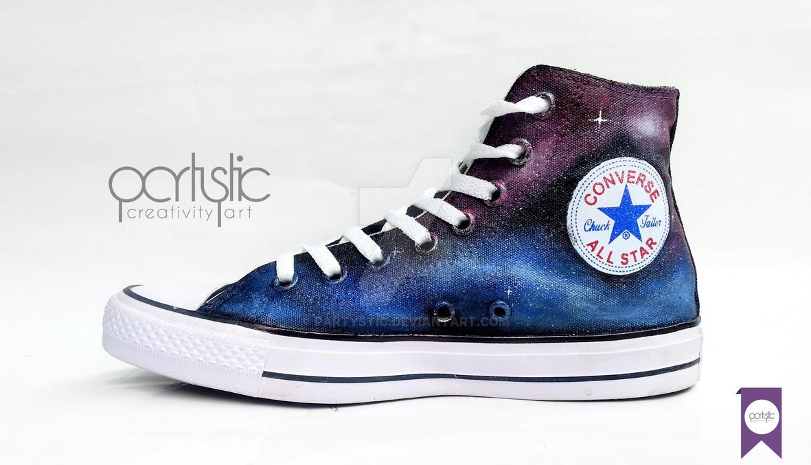 Partystic Creativity Art Sepatu Lukis Blue Purple by partystic on ... c5bc55c7ca