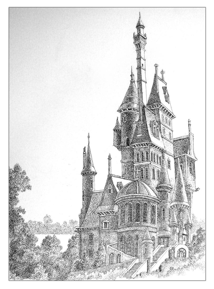 Арт фэнтези замок