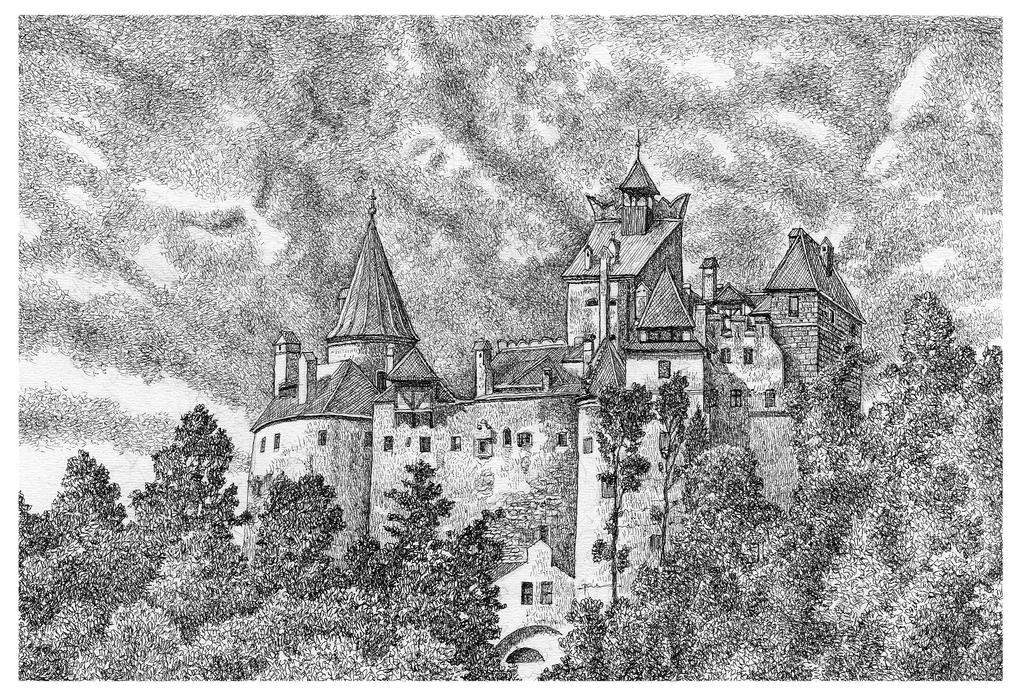Evil Castle Drawing Easy