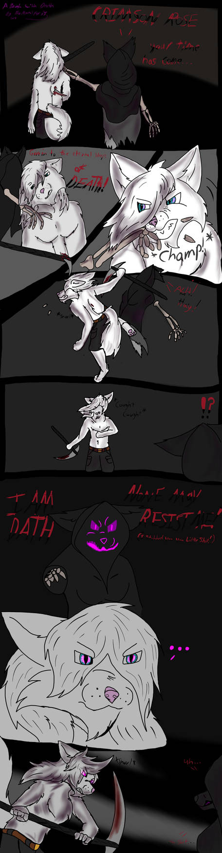 A brush with death by TheMortalFox
