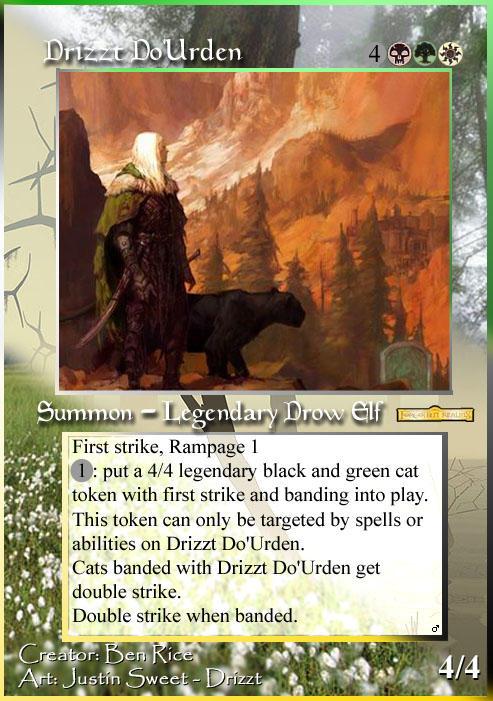 Drizzt's magic card by kridxen