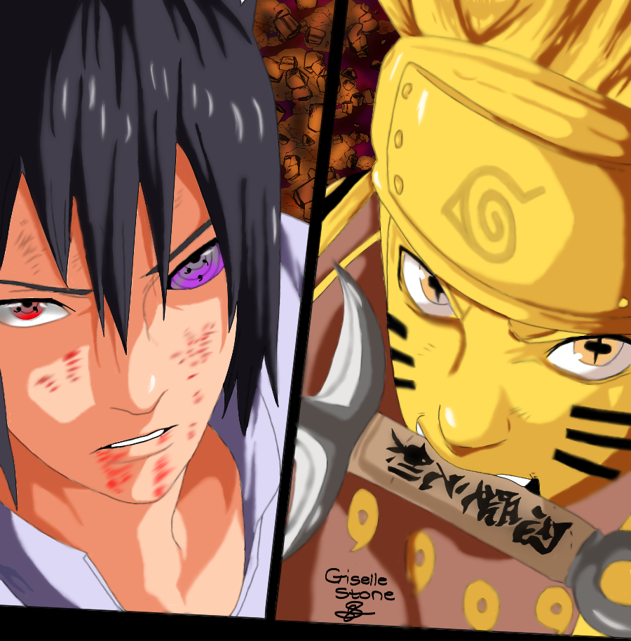 Naruto And Sasuke Fan Art by GunRaider on DeviantArt