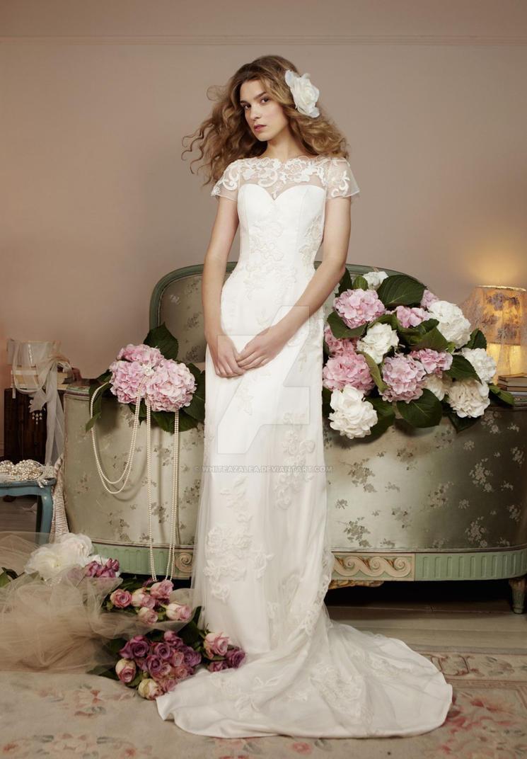 Lace Column Elegant Vintage Wedding Dress By Whiteazalea On DeviantArt