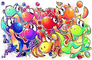 THE YOSHIS ARE WATCHING by LSDolphin