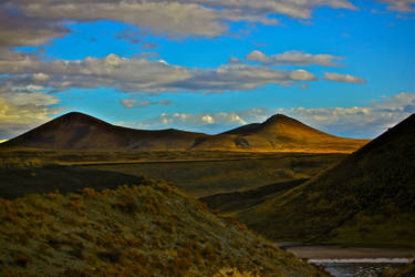 Volcanic Landscape under the Autumn Sunset by Hermetic-Wings