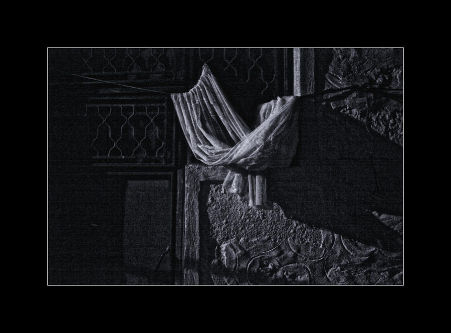 Useless Curtain of a Door Locked A year Ago by Hermetic-Wings