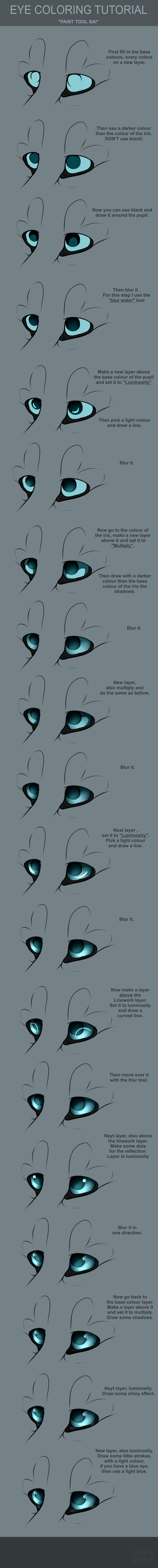 Eye Coloring Tutorial by Satoga