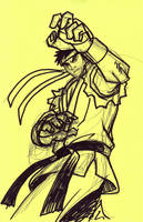 My Ryu Sketch for rgm501 by AKUMAGOUKIDEMON666