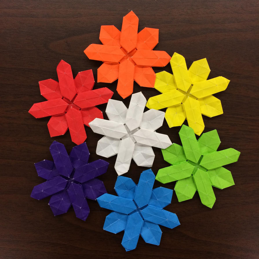 Snowflake color wheel by Origami1105 on DeviantArt