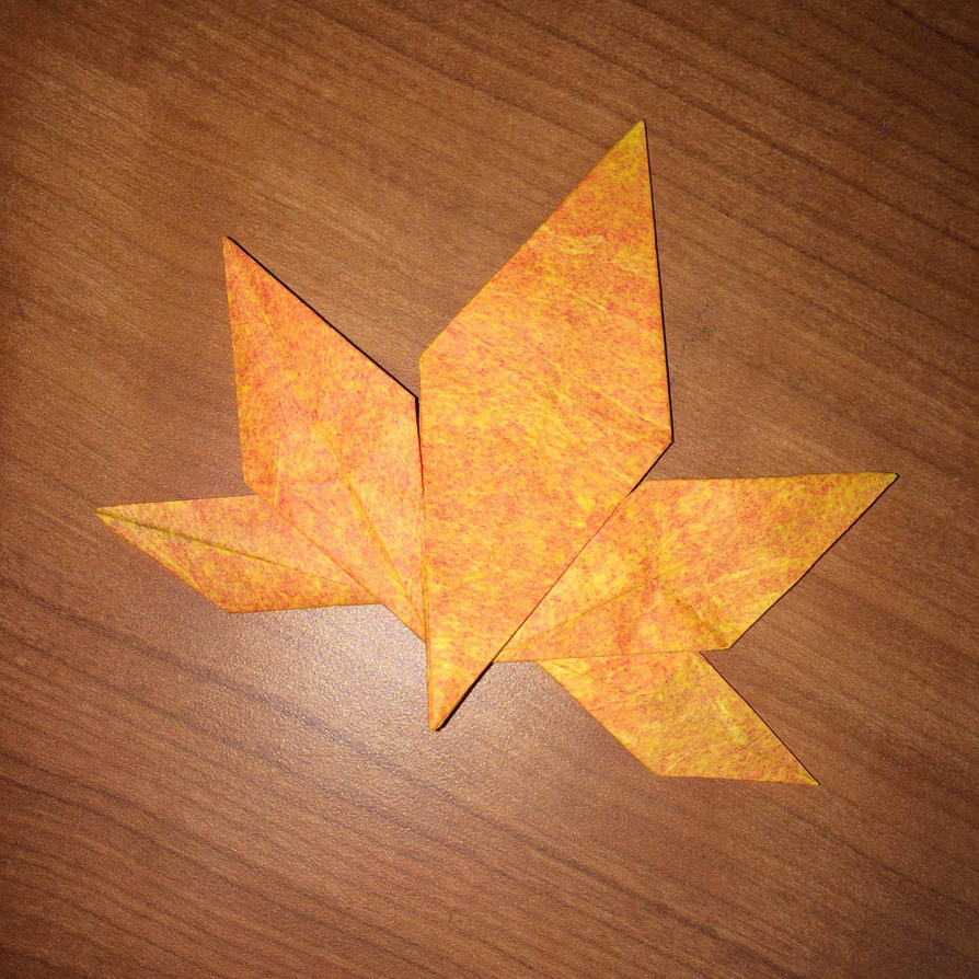 origami maple leaf by origami1105 on deviantart