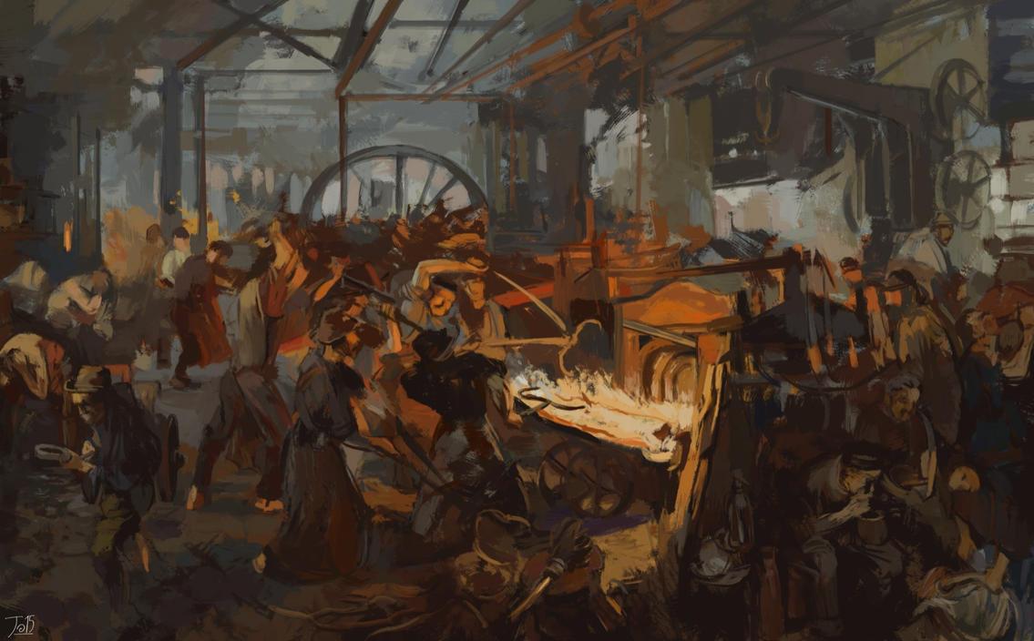 Adolph Menzel Eisenwalzwerk by gothicAge