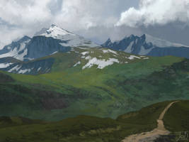 Mountain Pass-study