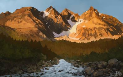 Norwegen-Berge