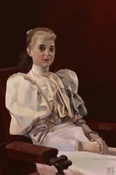 Gustav Klimt-Seated Girl