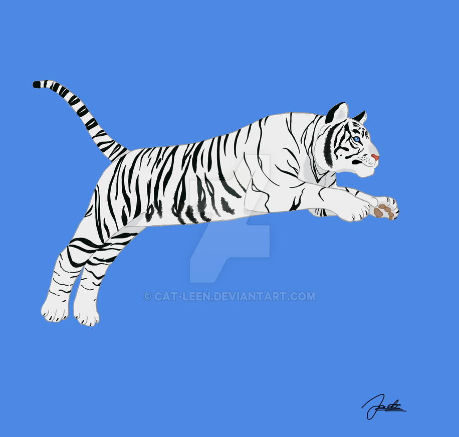 White tiger by Cat-Leen