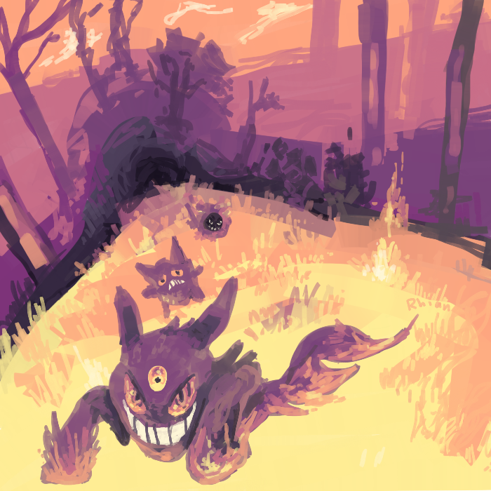 gengar and friends by haemorrhoid
