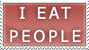 I Eat People Stamp by xXPariahsXx