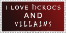 Love Heroes And Villains Stamp by xXPariahsXx
