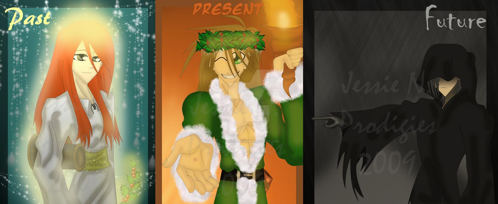 three ghosts of christmas