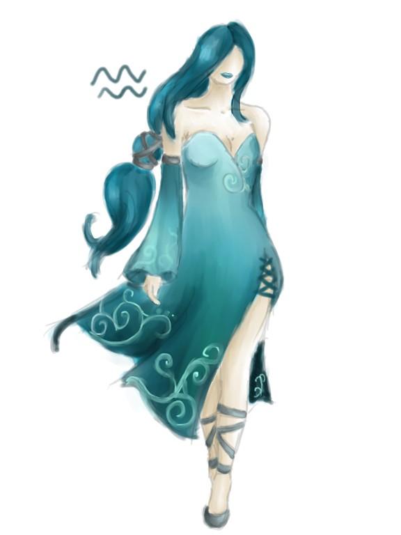 Horoscope Fashion Designs Aquarius By Melodicartist On Deviantart
