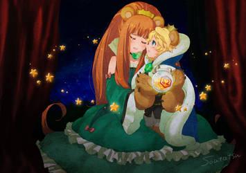 Anime Yuri Kuma Arashi : Ruru and Mirun by soutatsu123