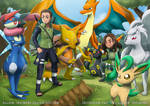[Commission] Shinobis and their Pokemon Team