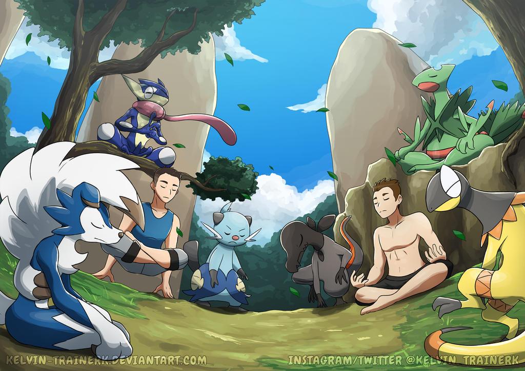 [Commission] Inner Peace by kelvin-trainerk