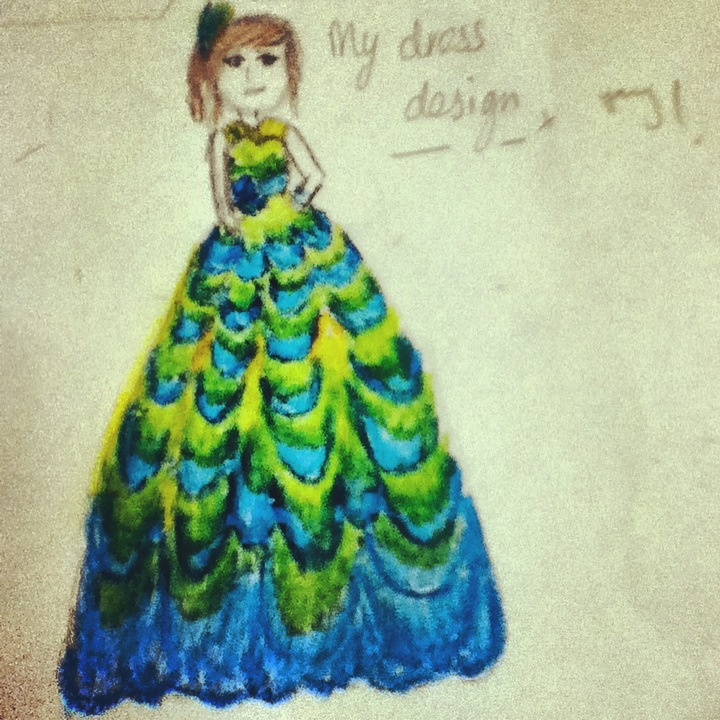 Peacock feather dress design by Lbubbly12 on DeviantArt