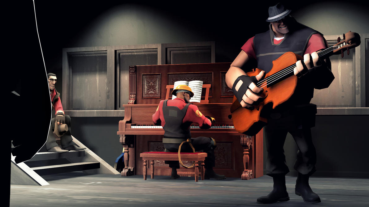 The unusual duo    TF2 by VaultBoy596