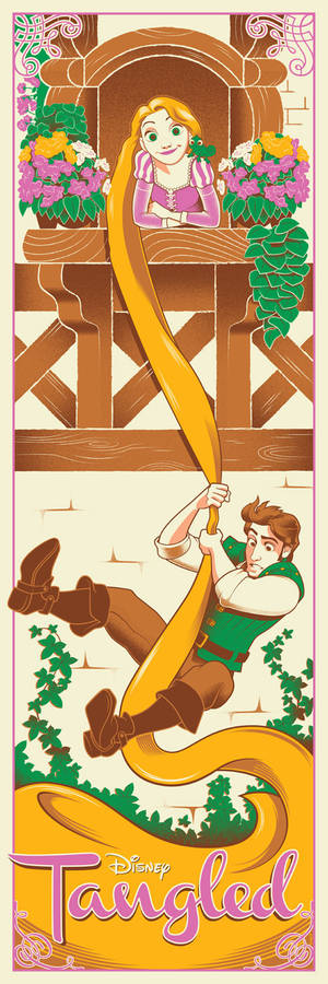 Disney's Tangled screen print available now!