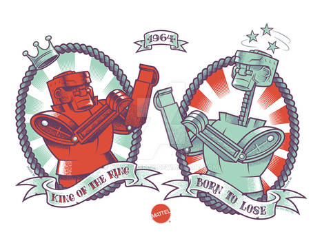 Rock 'Em Sock 'Em Robots: Mattel Art Show