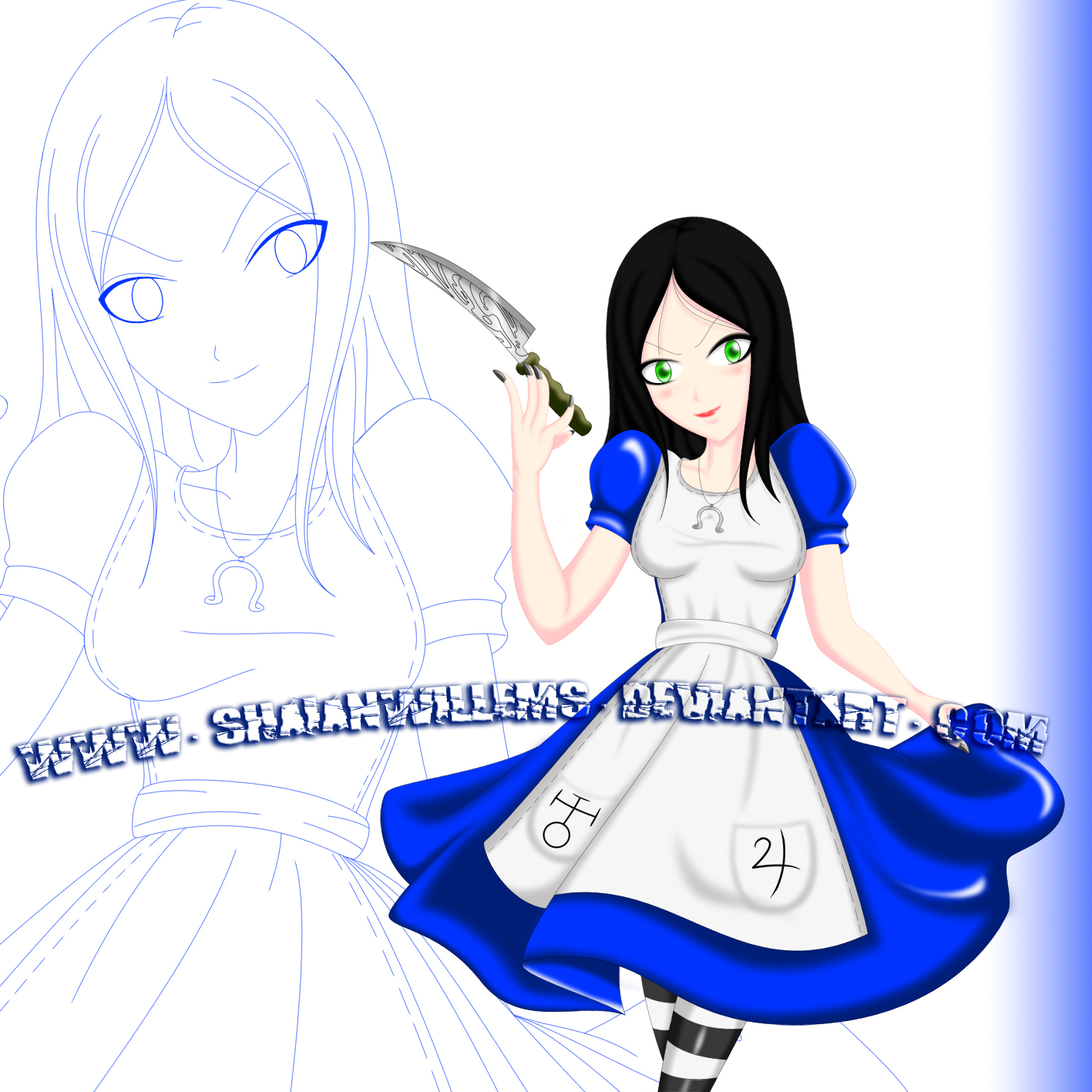 Alice MR Collab with DarkMysha Colored by ShaianWillems